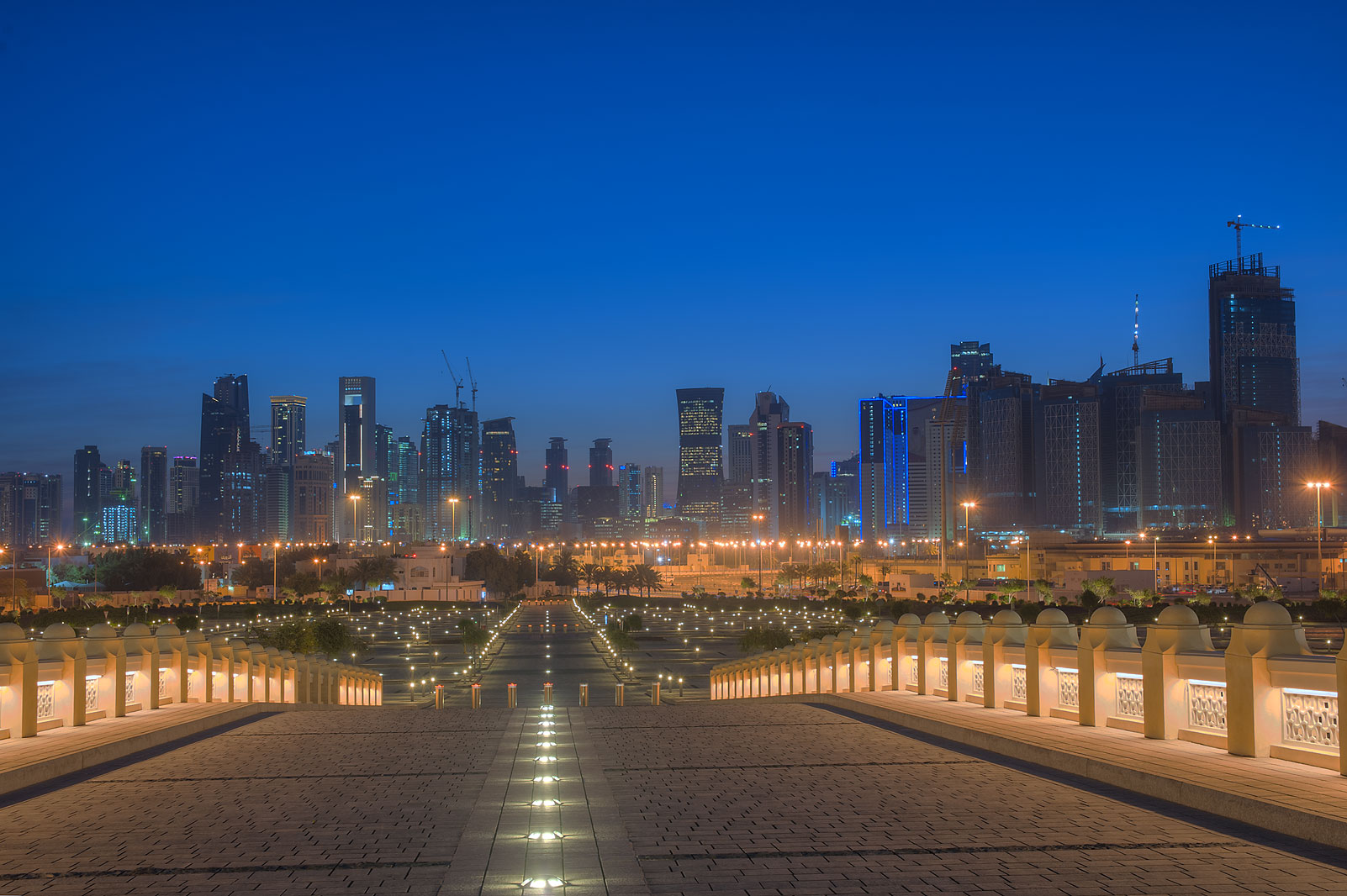 West Bay from State Mosque (Sheikh Muhammad Ibn Abdul Wahhab Mosque). Doha, Qatar