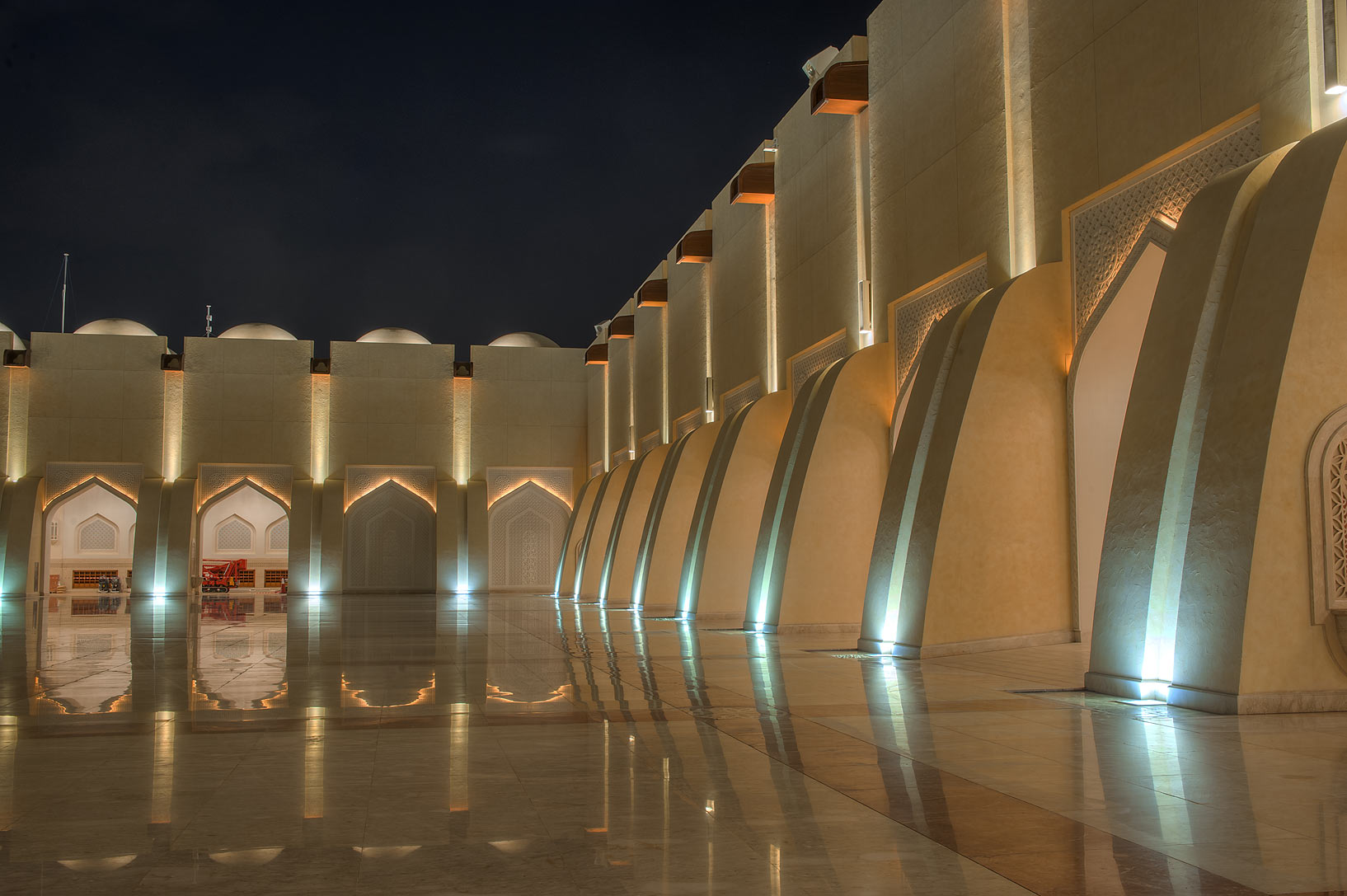 Courtyard of State Mosque (Sheikh Muhammad Ibn Abdul Wahhab Mosque). Doha, Qatar