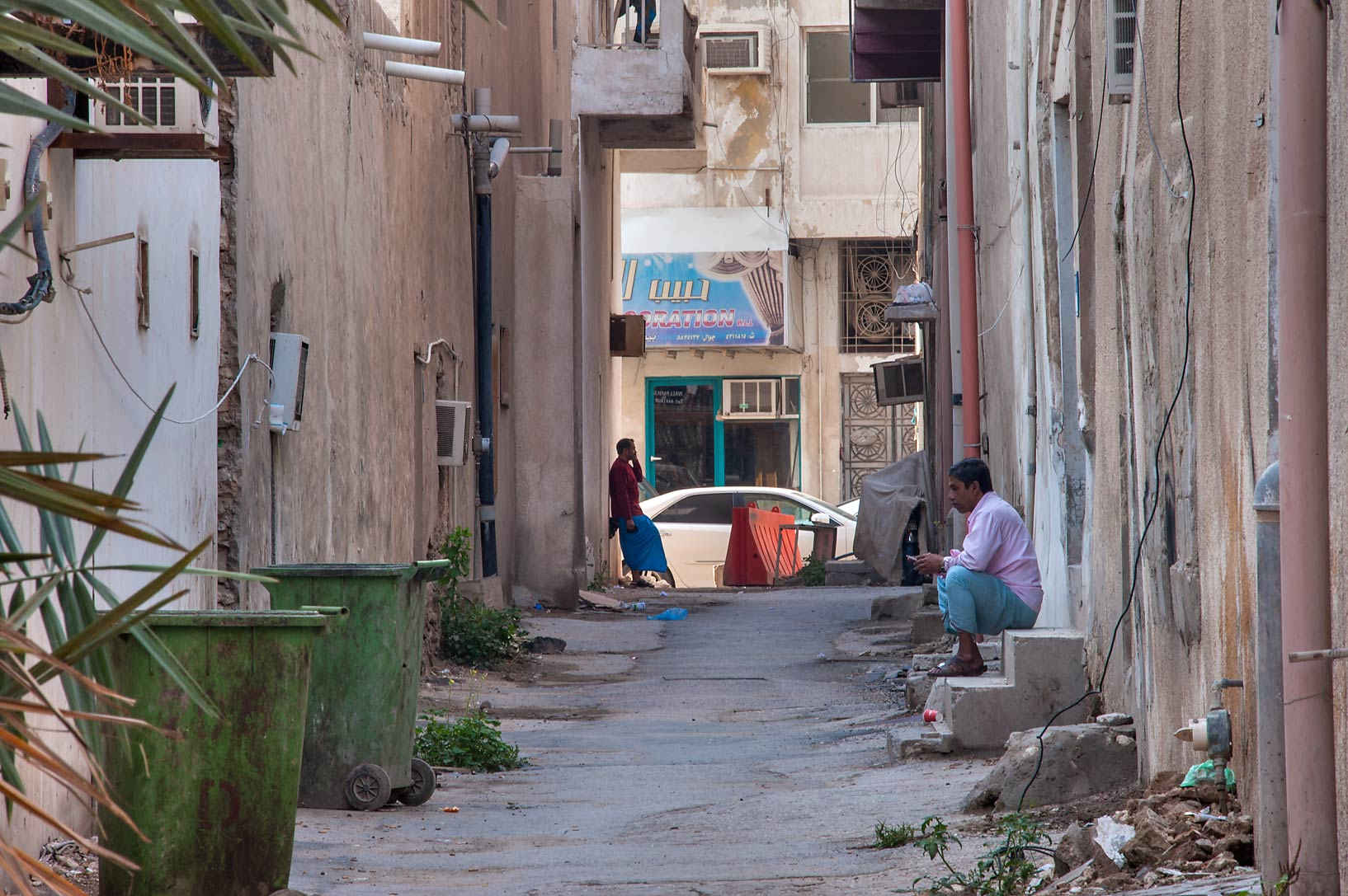 Narrow lane (sikka) near Umm Wishad St. in Musheirib area. Doha, Qatar