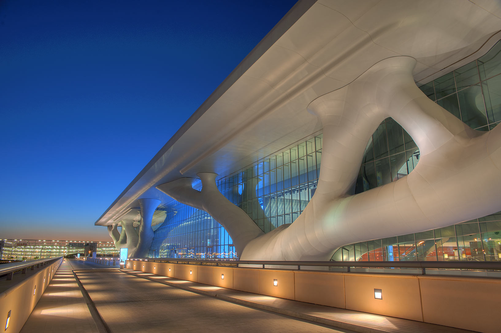 Service road of National Convention Centre (QNCC). Doha, Qatar