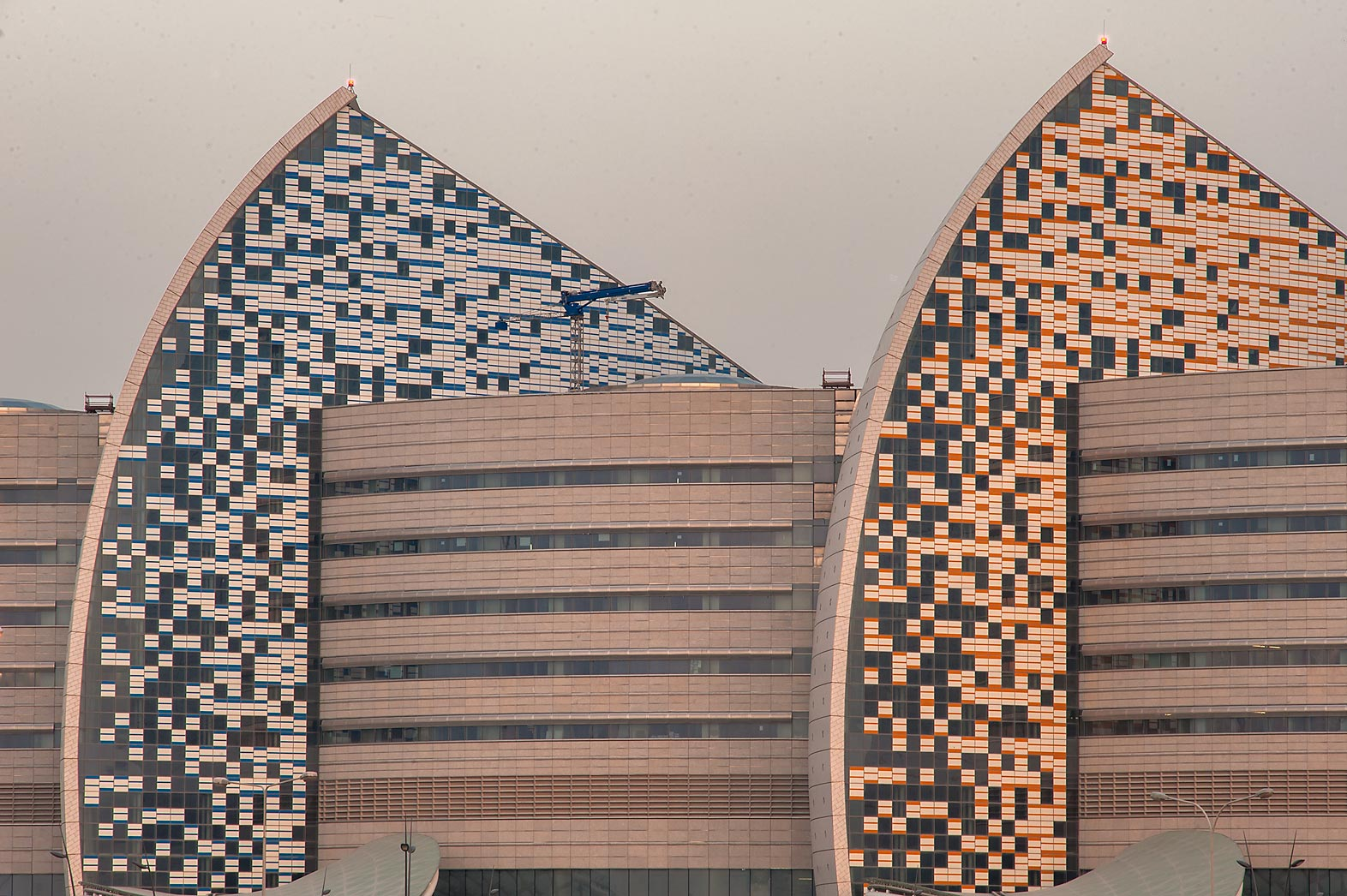 Deatails of panels of Sidra Medical and Research Center. Doha, Qatar