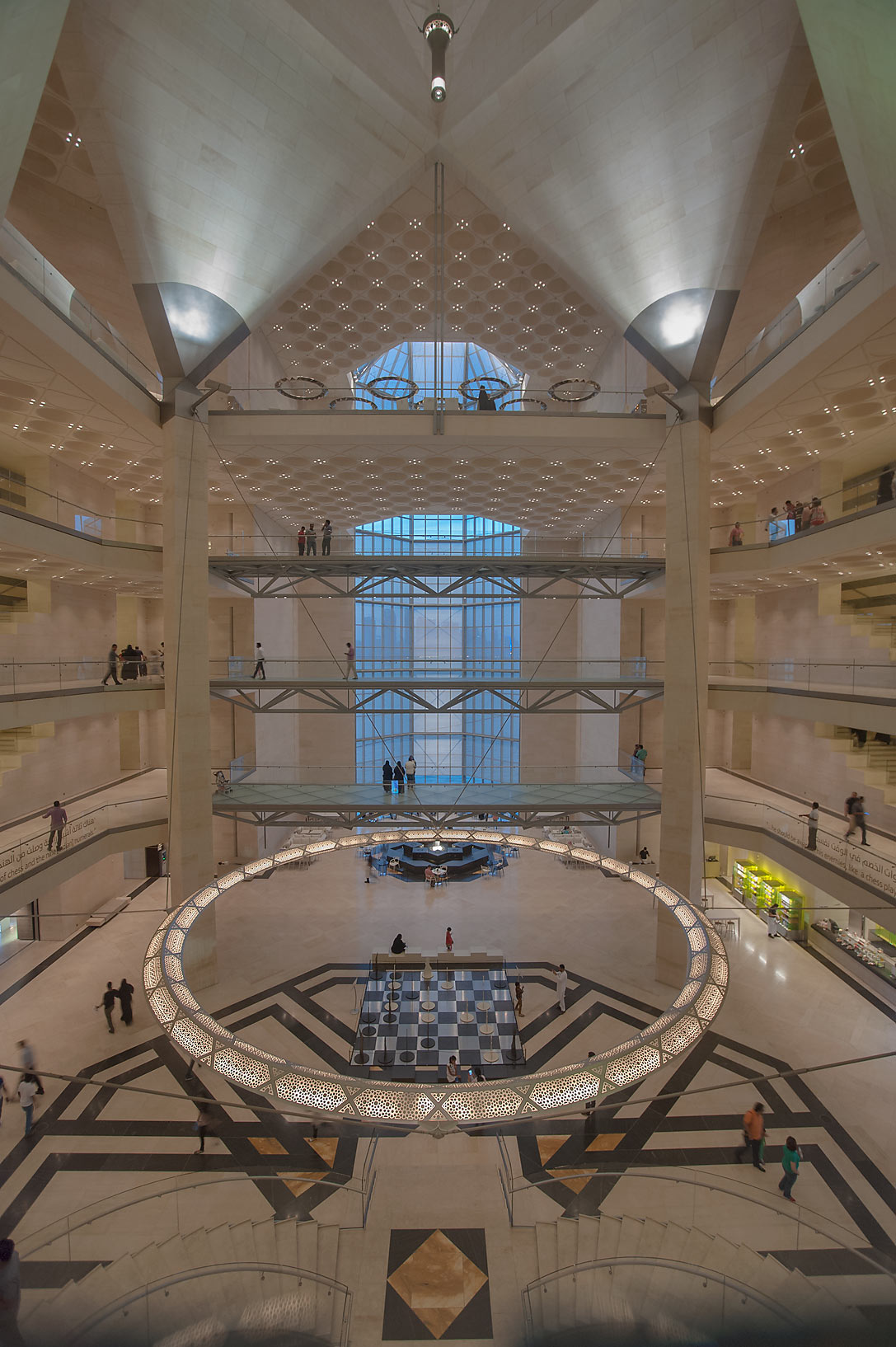 Interior of Museum of Islamic Art. Doha, Qatar