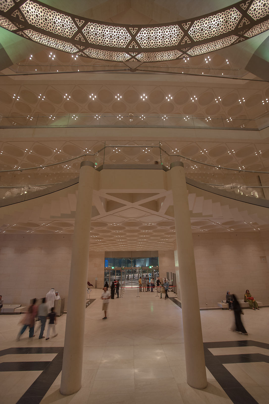 View from grand staircase of Museum of Islamic Art. Doha, Qatar