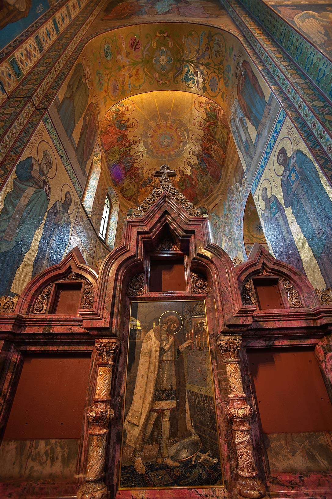 Side altar of Church of Savior on Blood. St.Petersburg, Russia