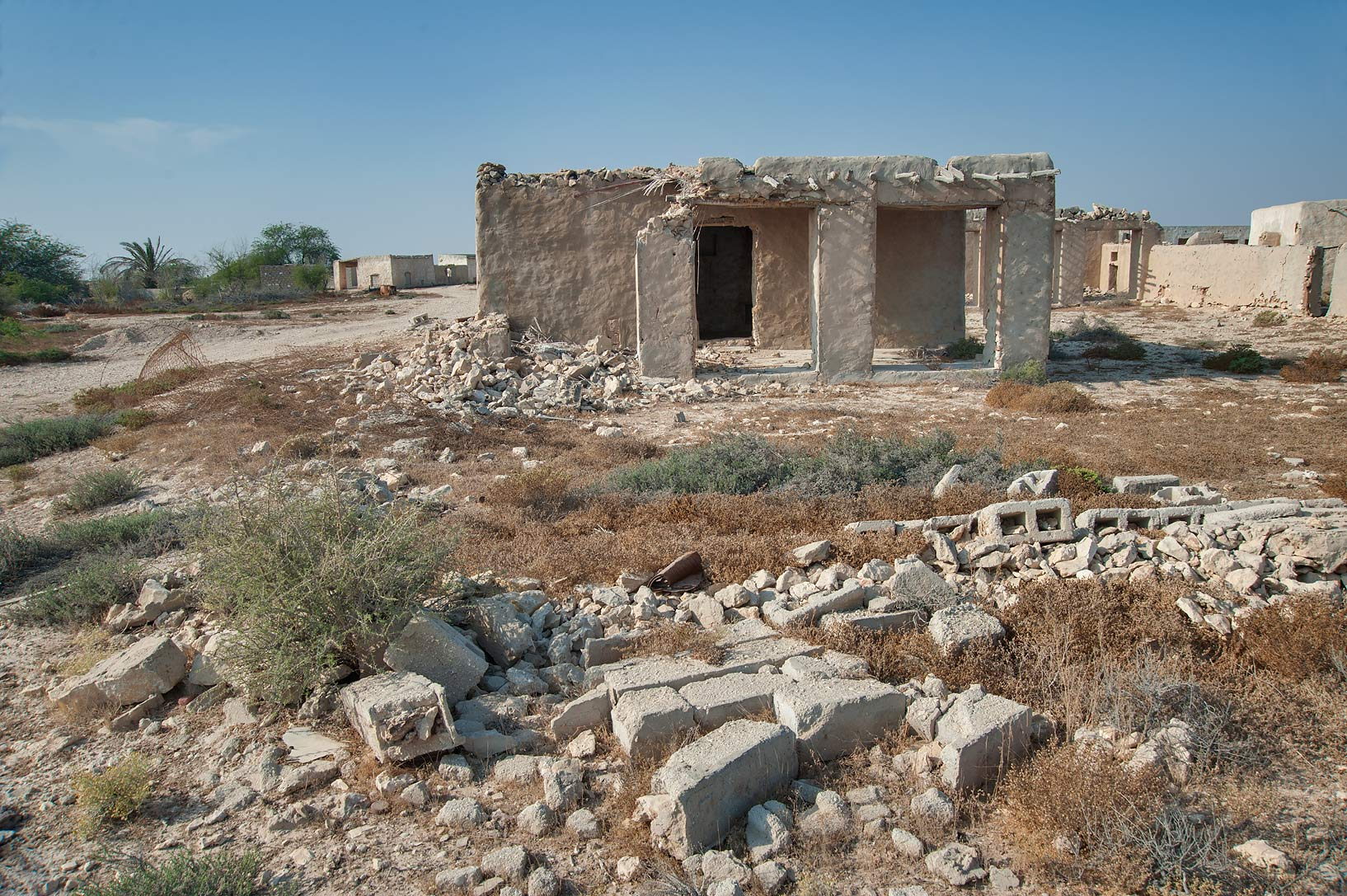 Ruins of old village in area of Ras Laffan Farms. Northern Qatar