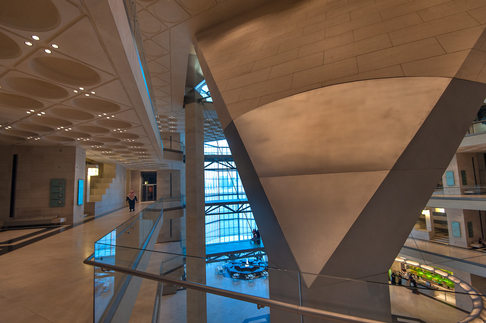 Supporting structure of Museum of Islamic Art at evening. Doha, Qatar