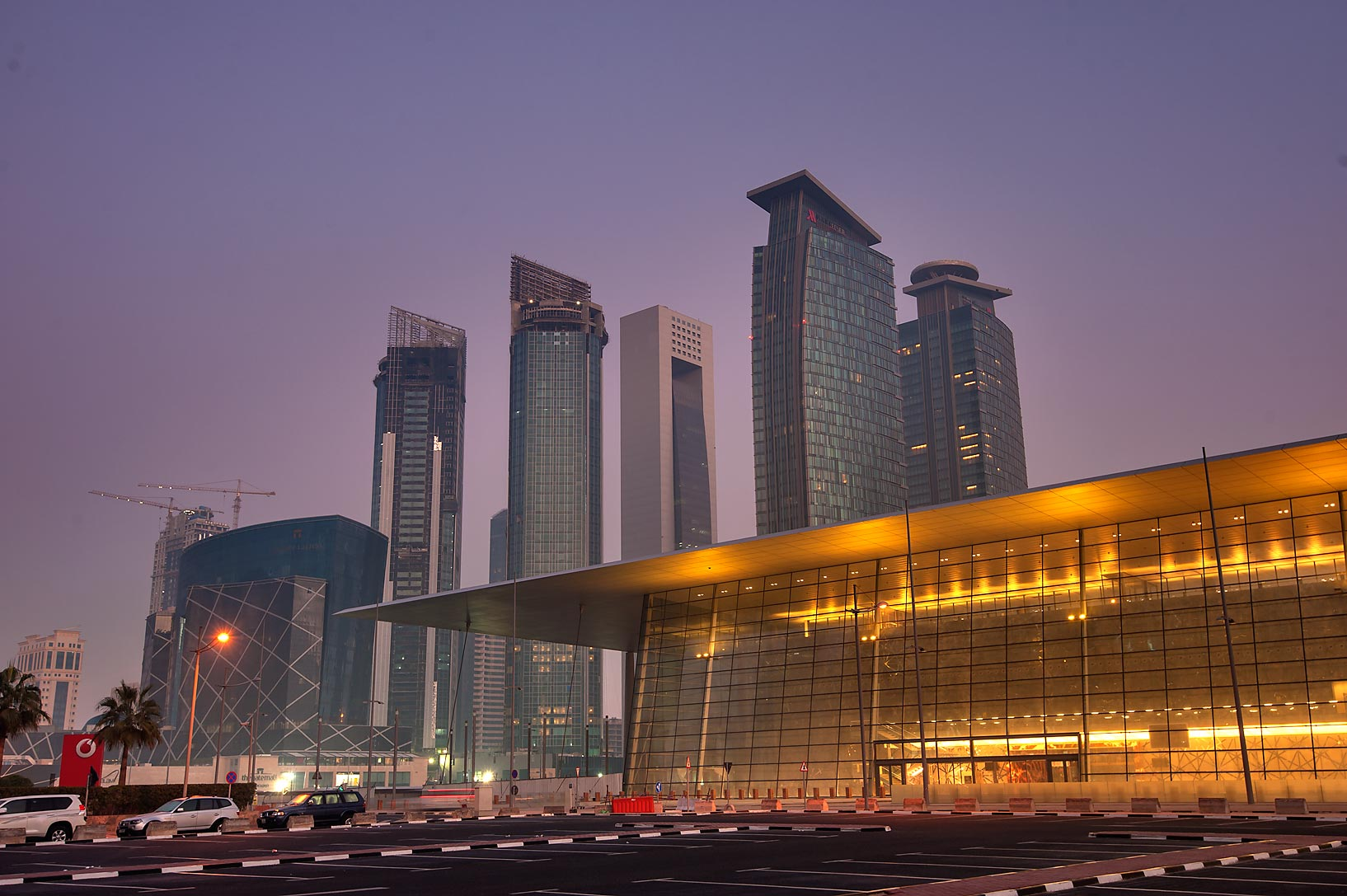 Convention Center and Marriott Hotel Complex in West Bay. Doha, Qatar