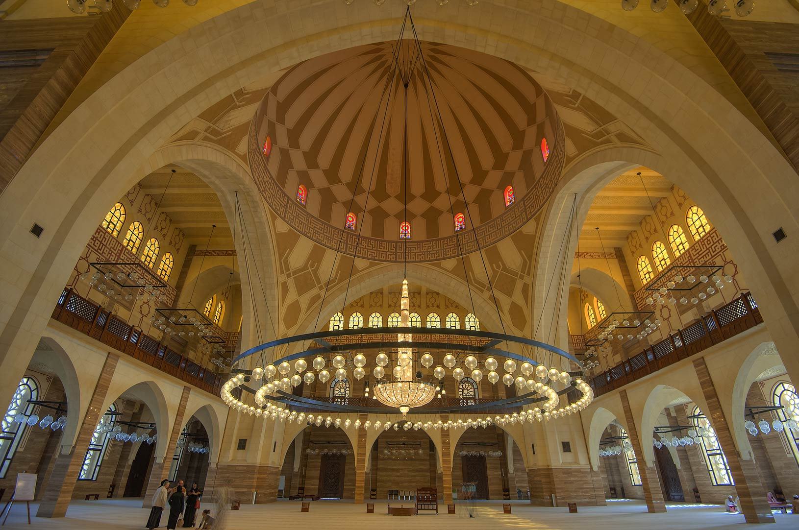 Domed structure in Ahmed Al Fateh Mosque. Manama, Bahrain