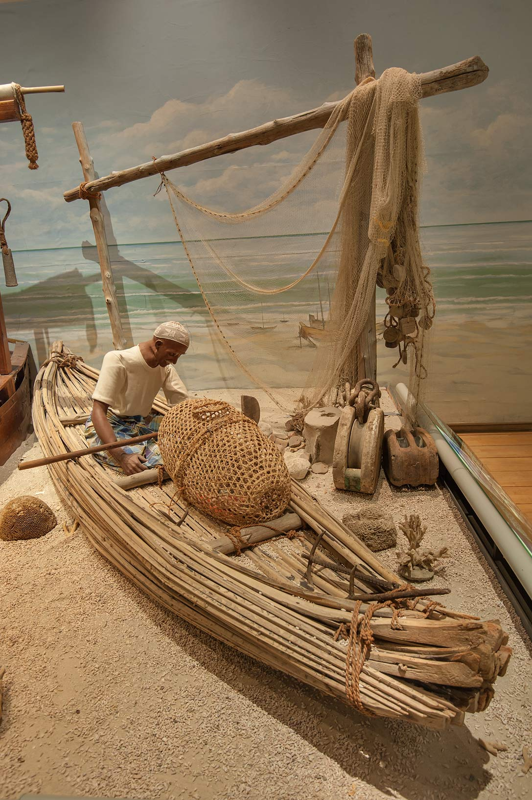 Exhibition of marine crafts in Bahrain National Museum. Manama, Bahrain