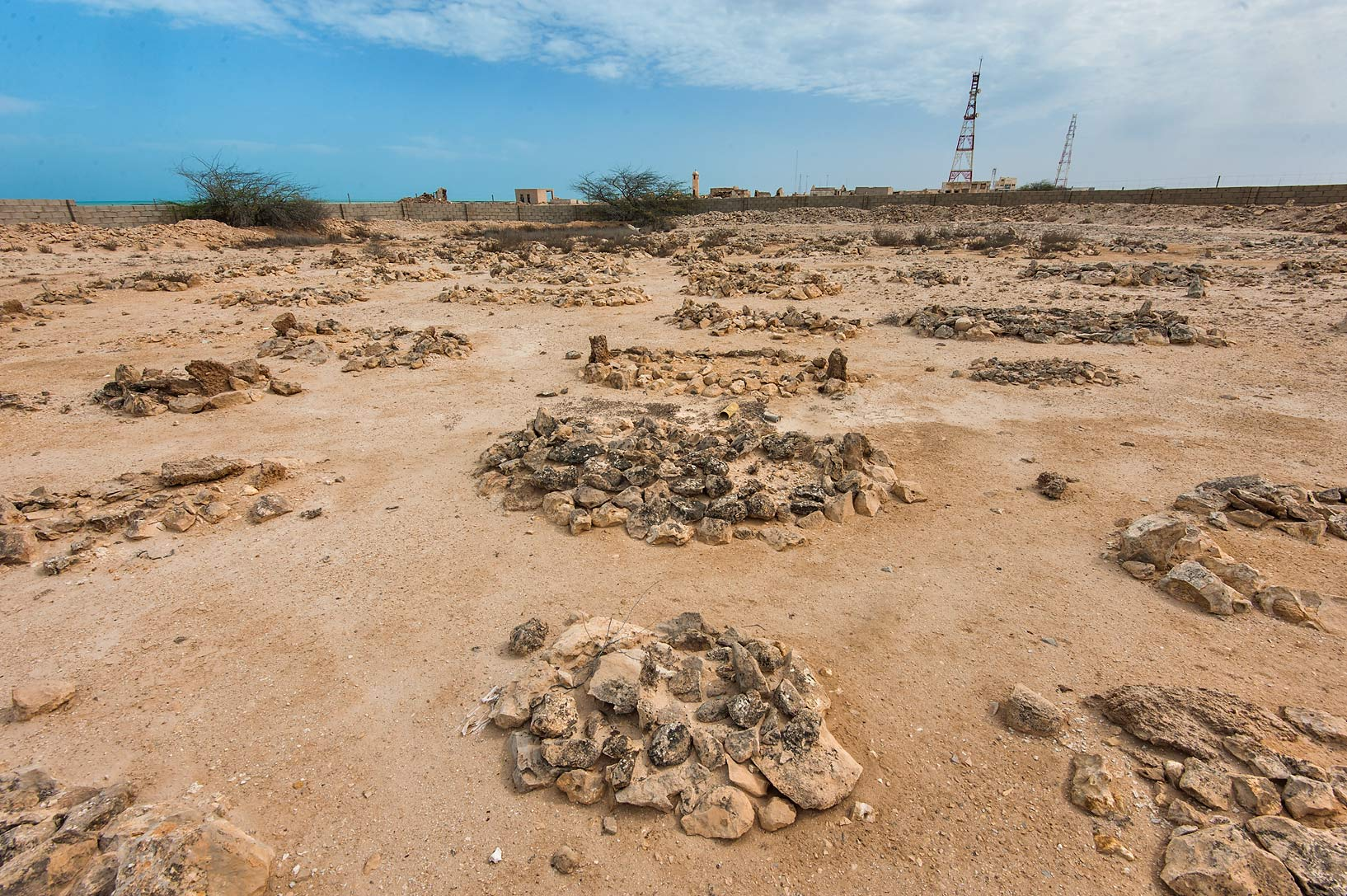 Tombs of Al Areesh Cemetery. Northern Qatar