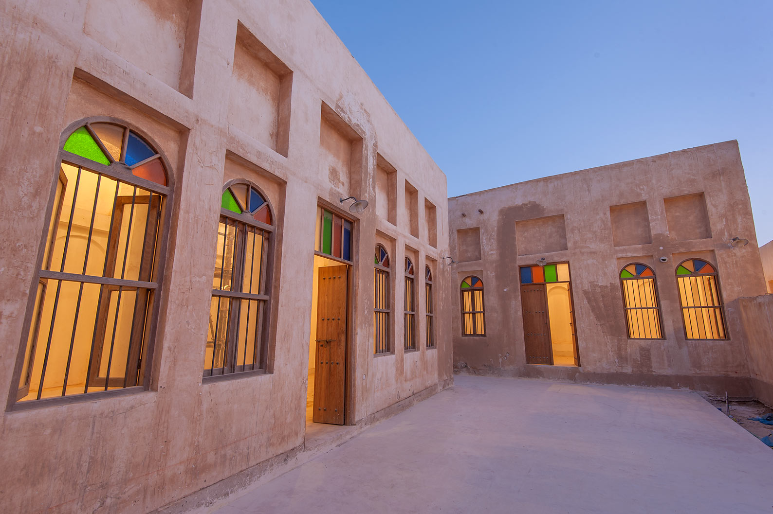 Traditional house in Al Wakra Heritage Village (Souq Waqif in Al Wakrah). Qatar