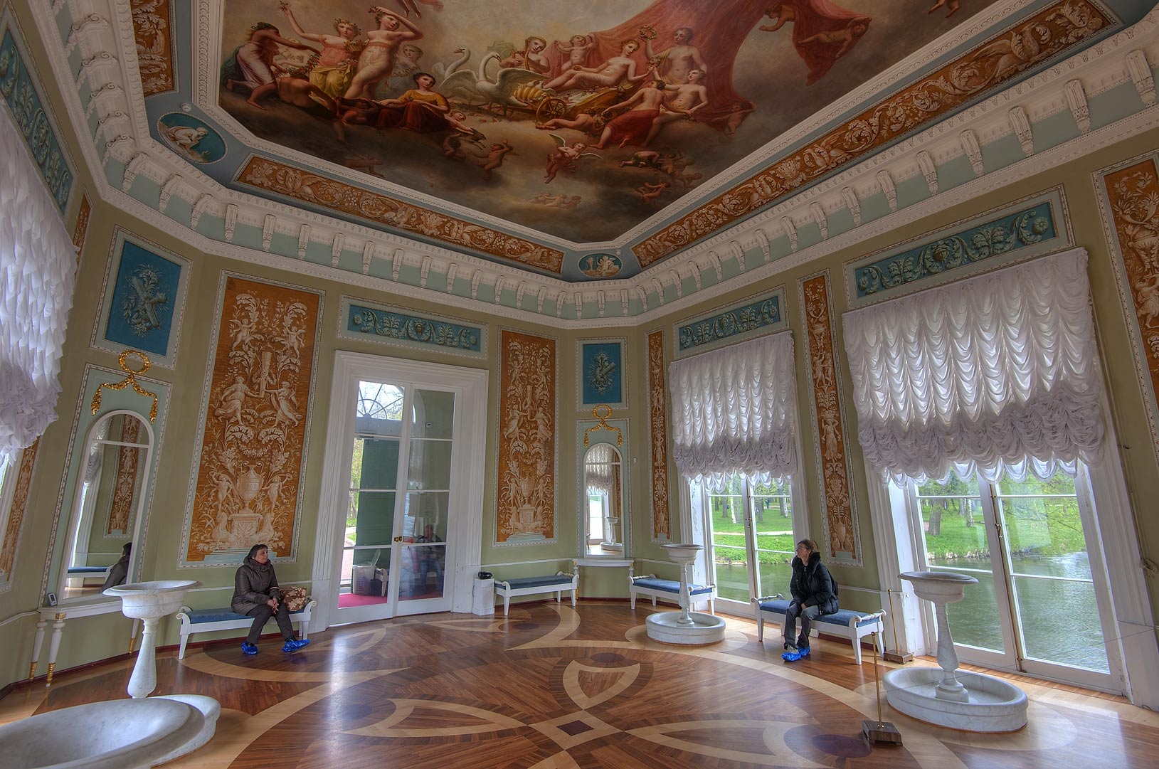 Interior of Venus Pavilion at Beloe Lake. Gatchina, suburb of St.Petersburg, Russia