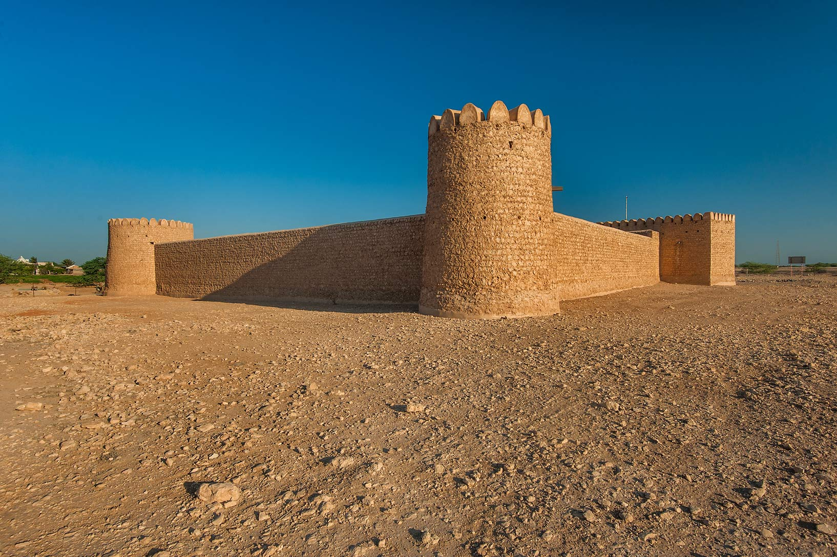 Rectangular shaped Al Thugab Fort. North-west coast, Qatar