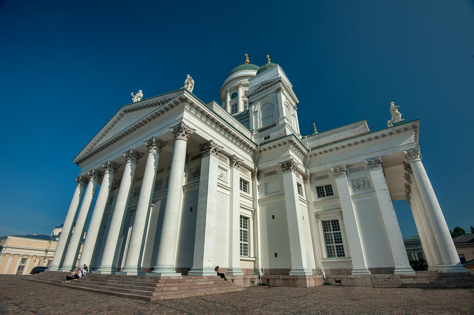 Helsinki Cathedral (St. Nicholas' Church) (1826) on Senate Square. Helsinki, Finland