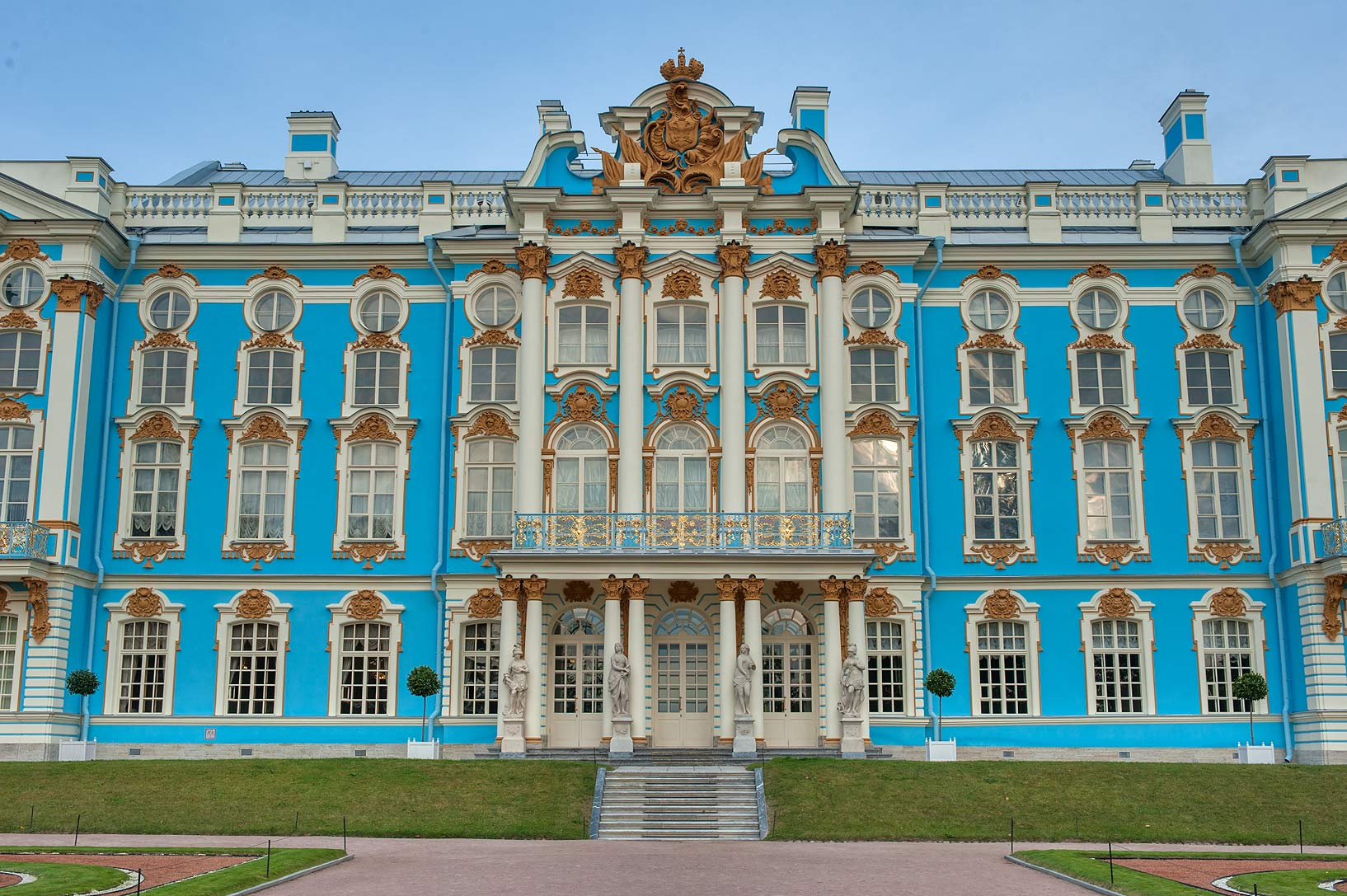 Catherine Palace. Pushkin (former Tsarskoe Selo), south from St.Petersburg, Russia
