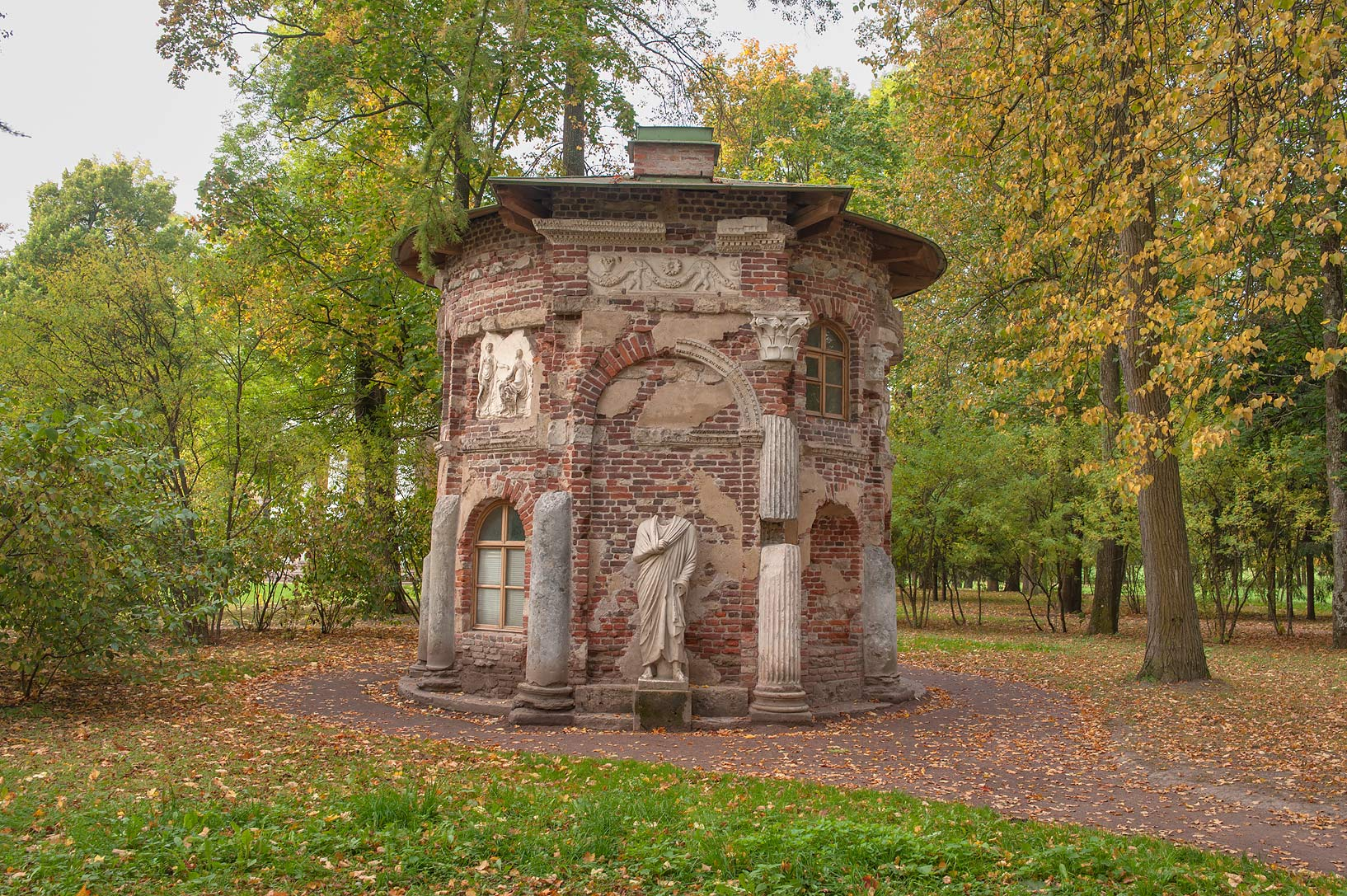 Kitchen Ruin in Catherine Park. Pushkin (former...south from St.Petersburg, Russia