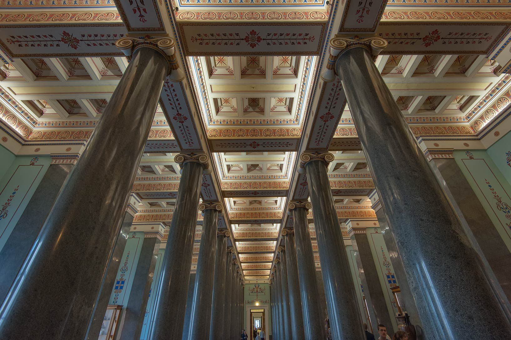 Monolithic granite columns of Twenty-Column Hall...Museum. St.Petersburg, Russia