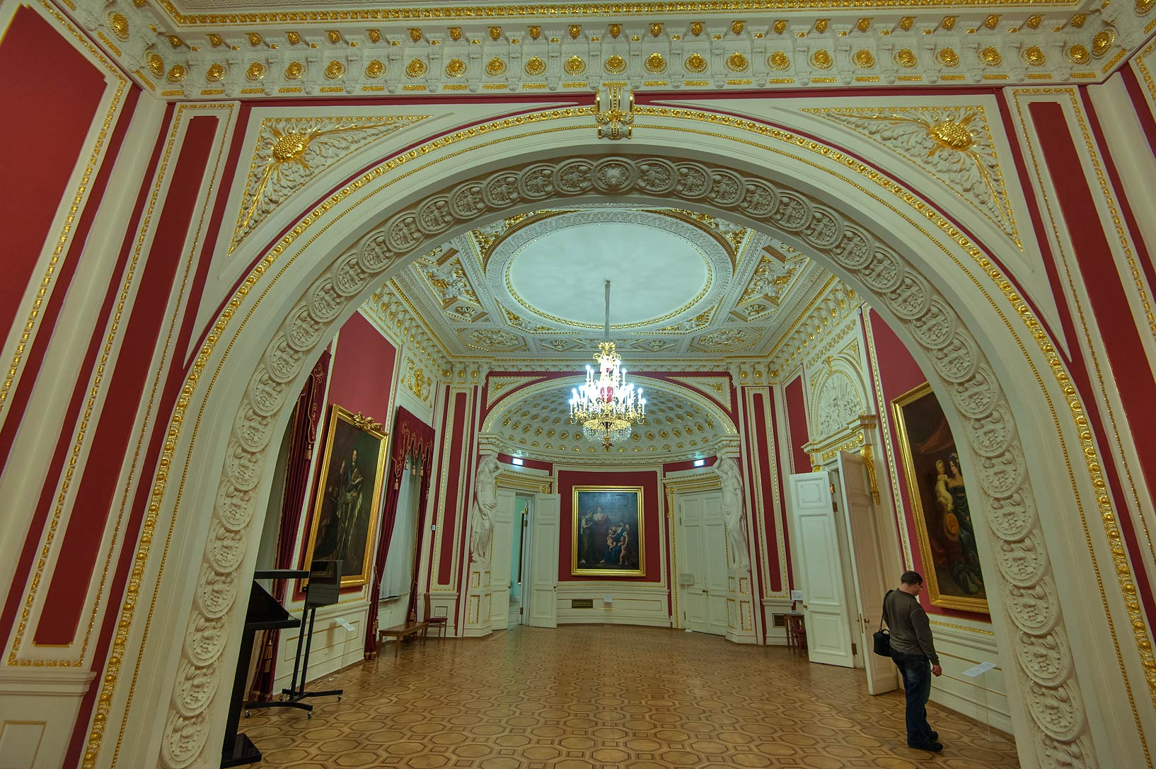 Arched room in Mikhaylovsky Castle. St.Petersburg, Russia