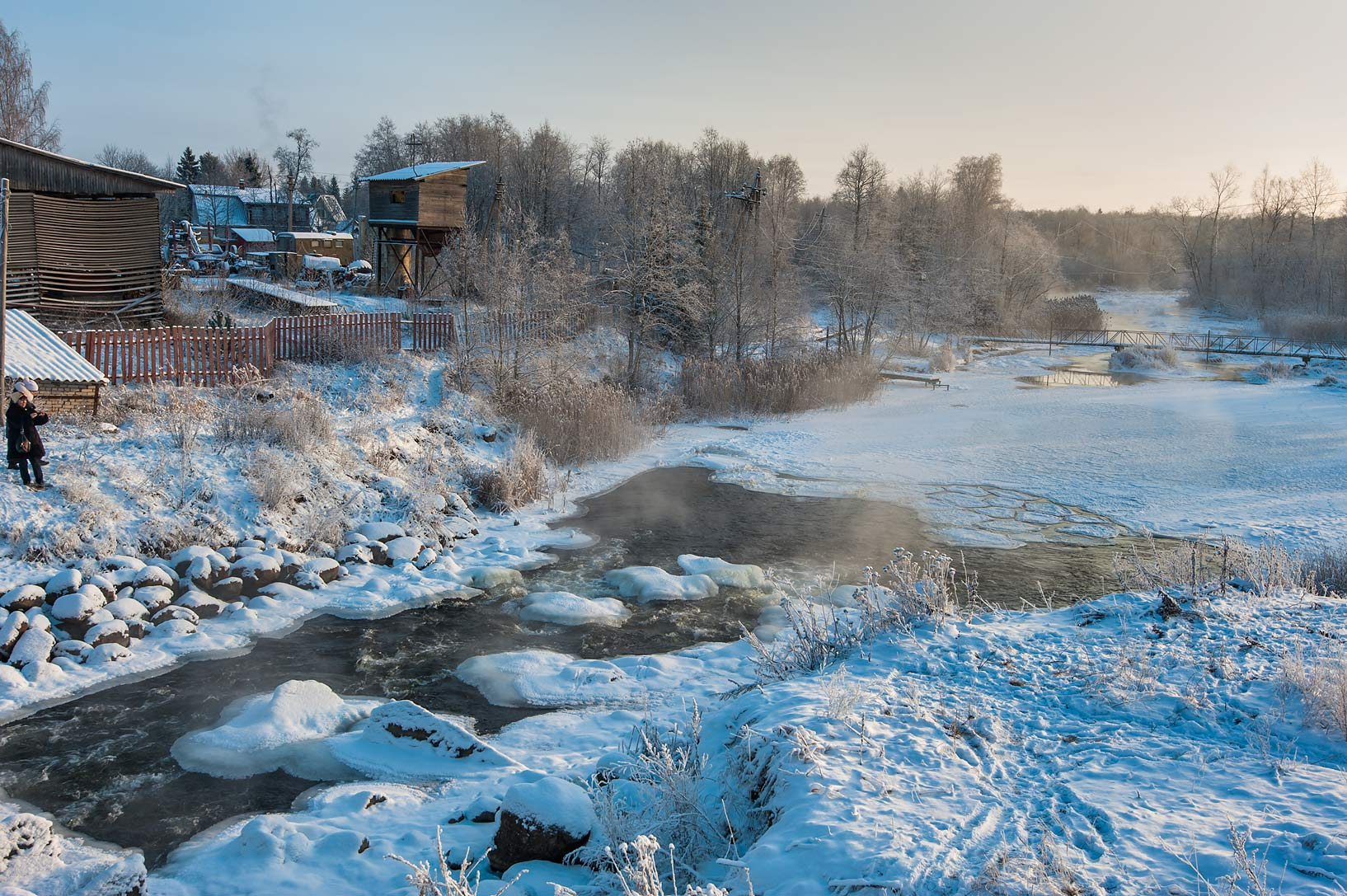 Oredezh River near Chikino Factories near...District of Leningrad Region, Russia