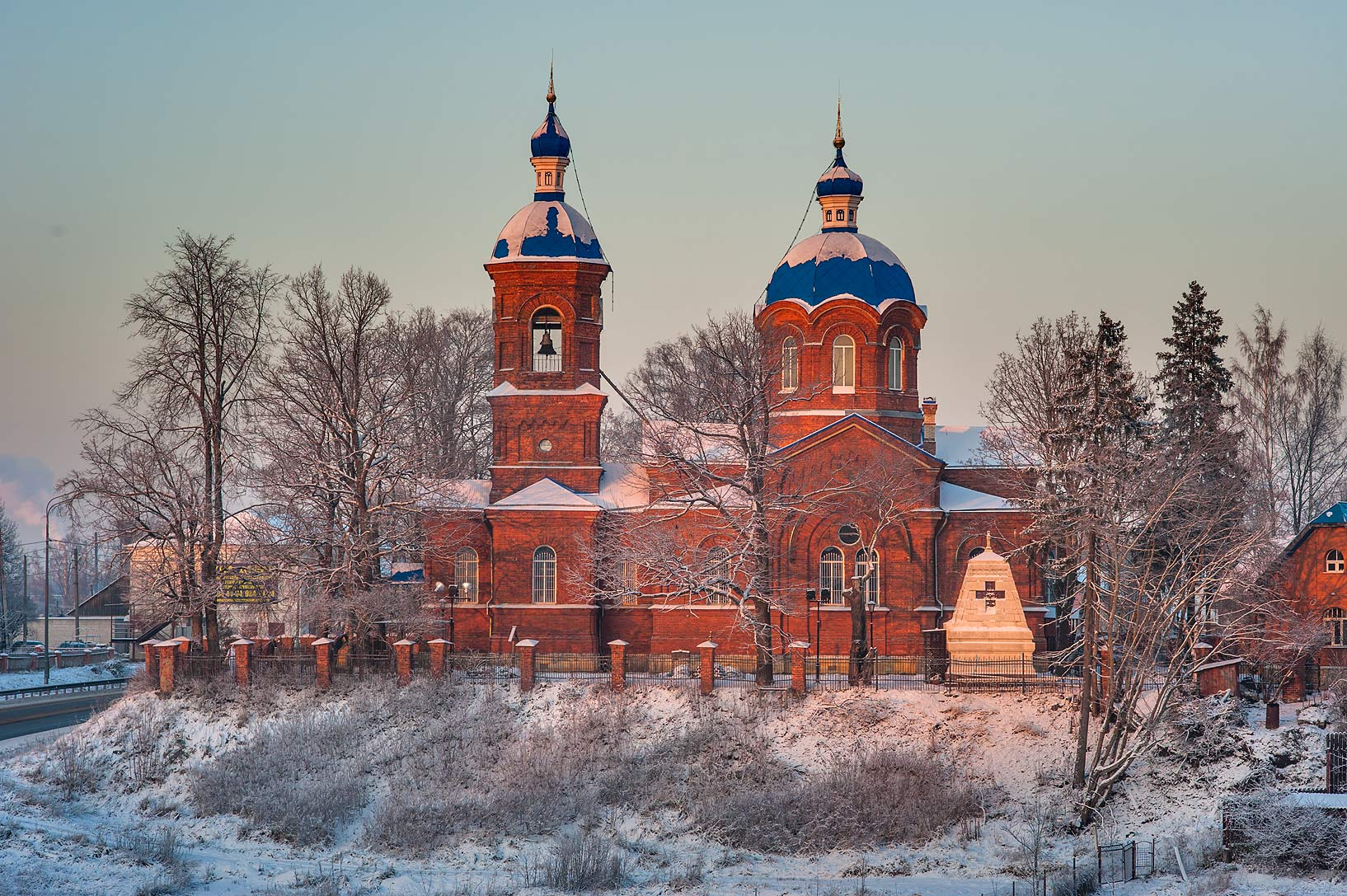 Cathedral in Rozhdestveno Village. Gatchina District of Leningrad Region, Russia