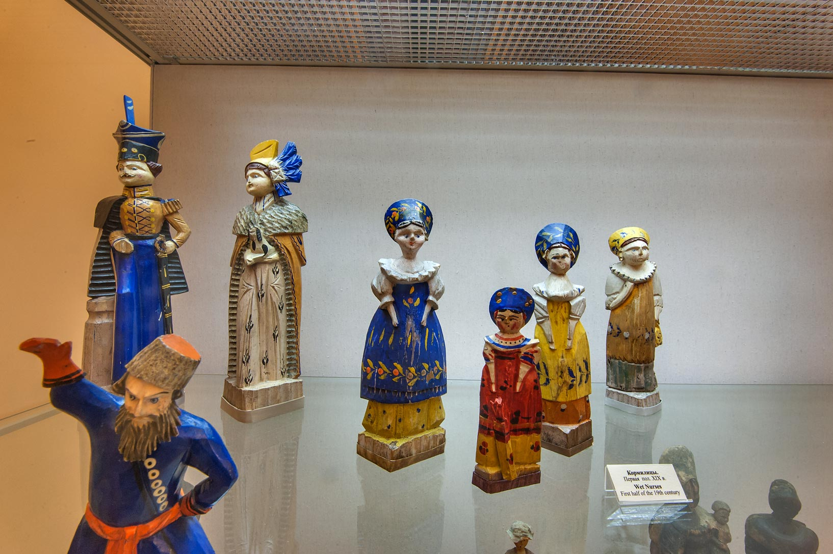 Dolls of wet nurses in Russian Museum. St.Petersburg, Russia