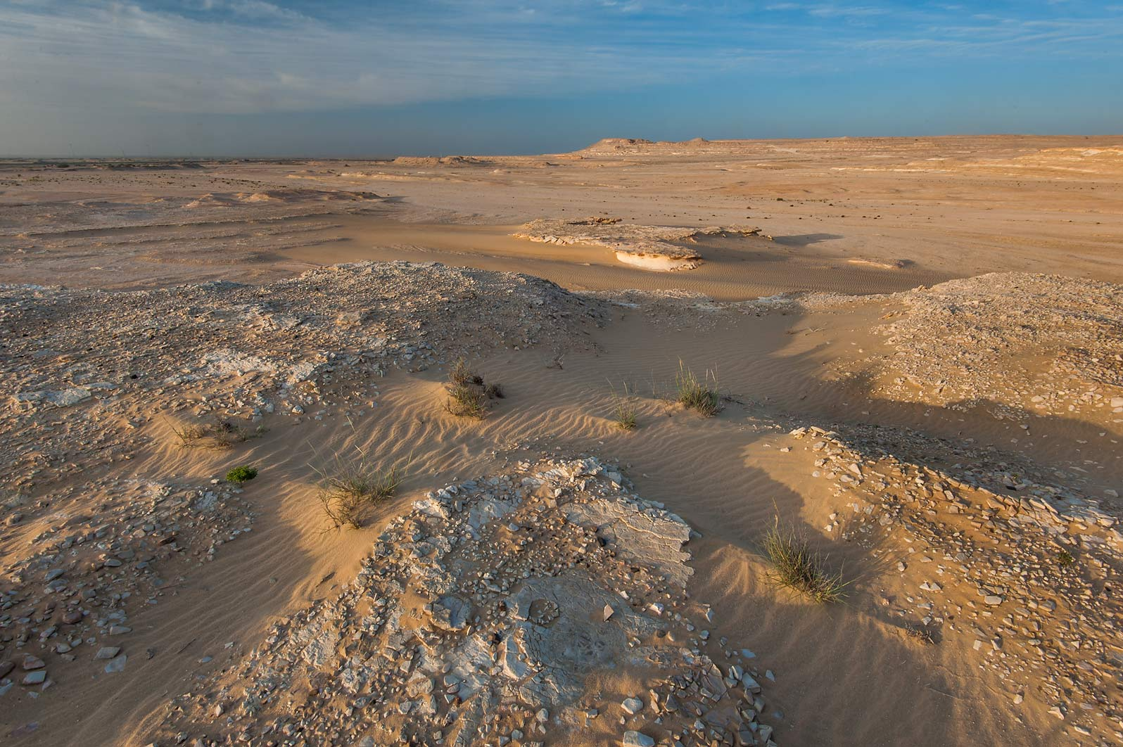 Stony plateau in area of Jebel Al-Nakhsh (Khashm an Nakhsh). South-western Qatar