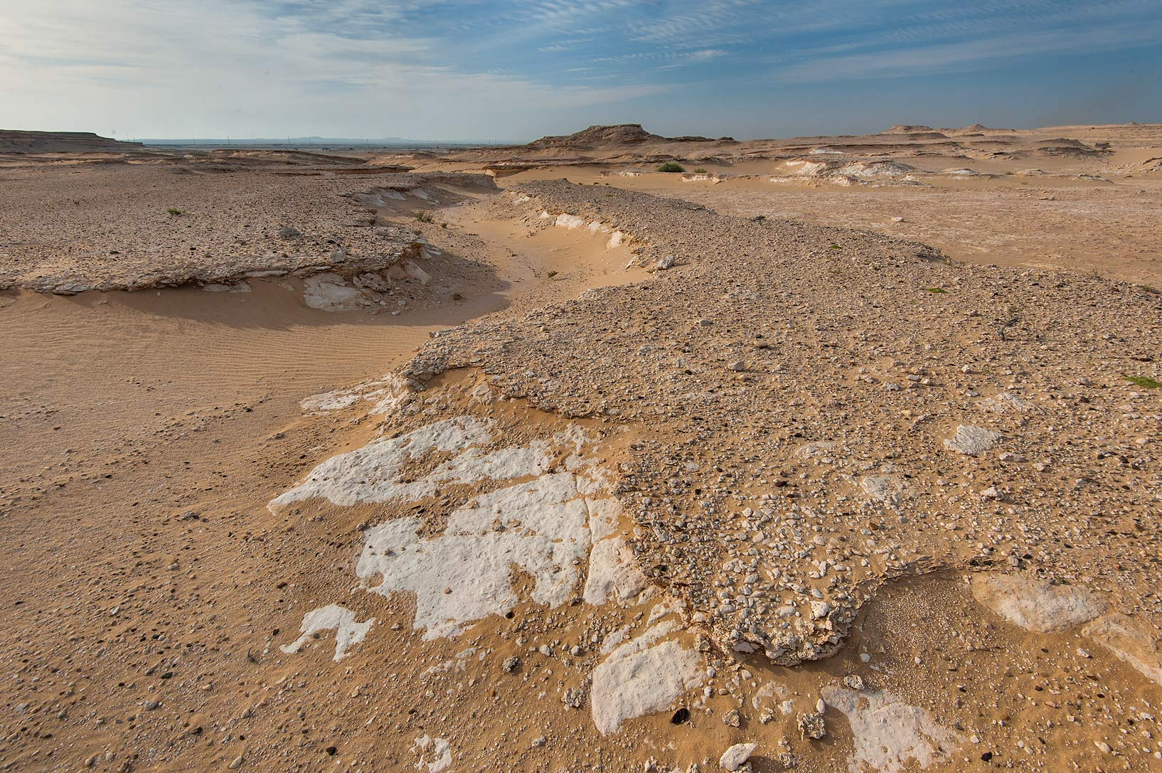 Small wadi in area of Jebel Al-Nakhsh (Khashm an Nakhsh). South-western Qatar