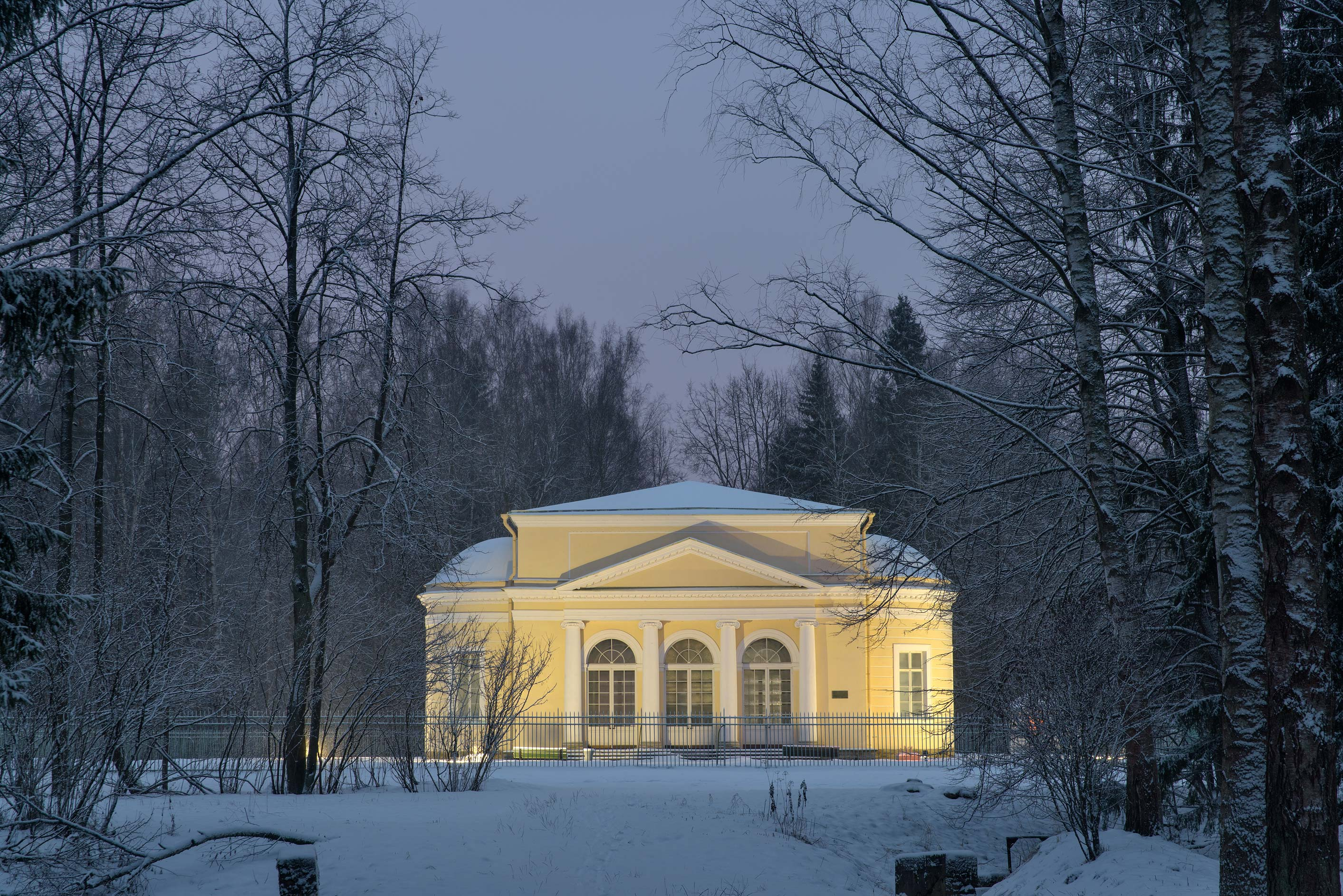 Music pavilion from Staroshaleynaya Alley in...suburb of St.Petersburg, Russia