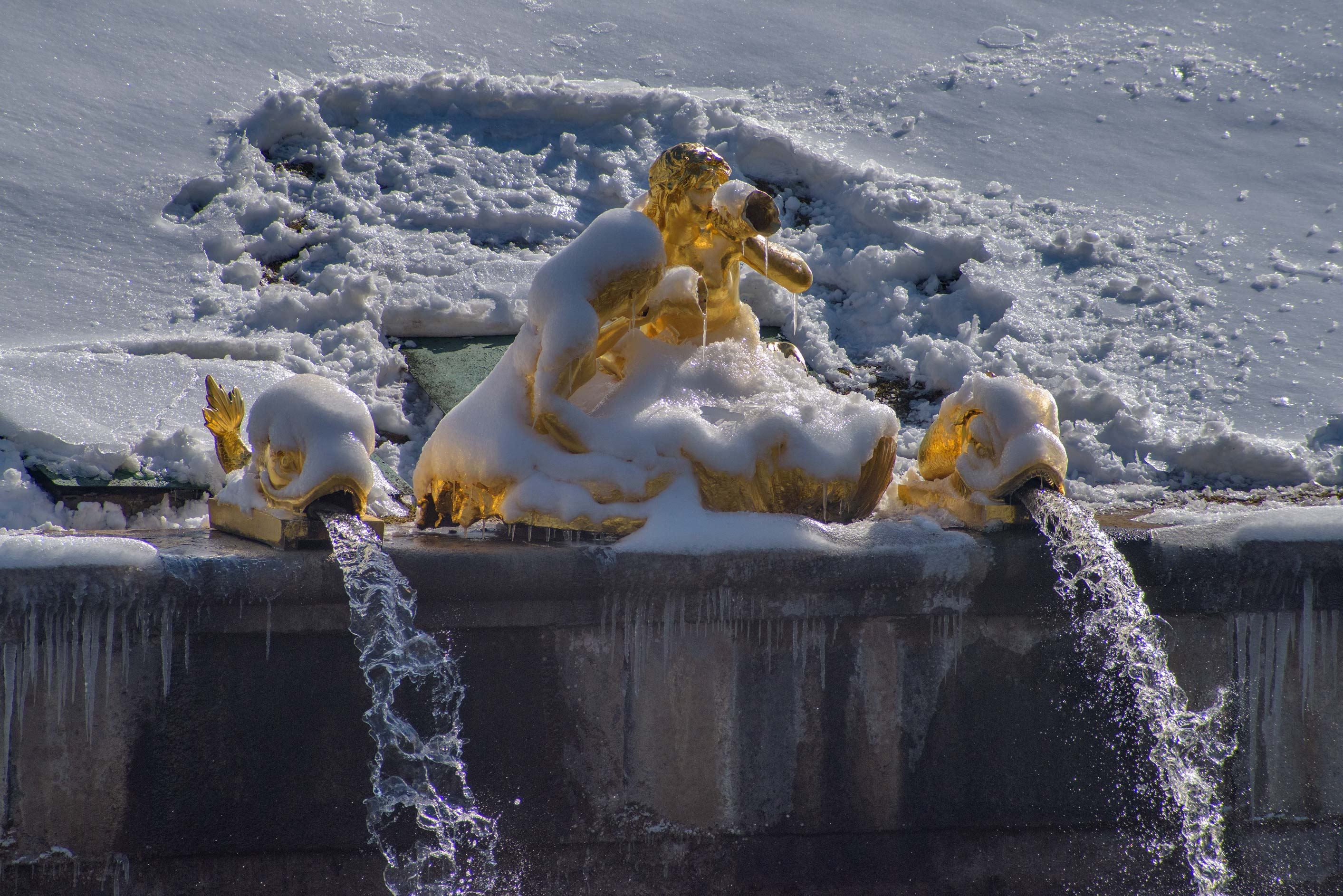 Sirens Fountain in Peterhof, suburb of St.Petersburg. Russia