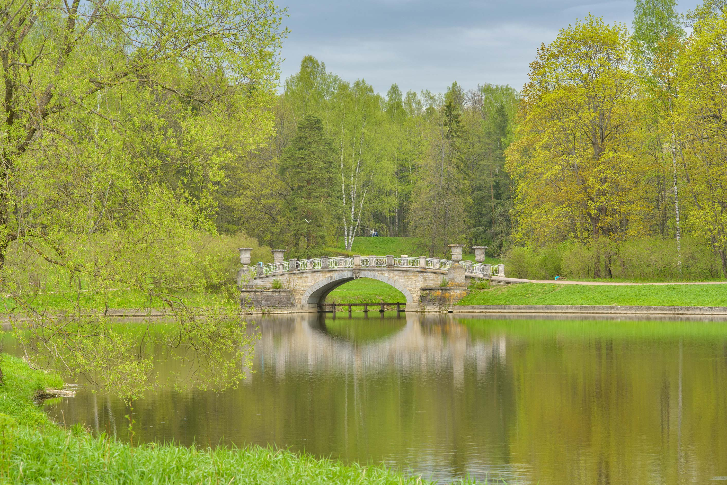 Viskontiev Pond of Slavianka River in Pavlovsk...suburb of St.Petersburg, Russia