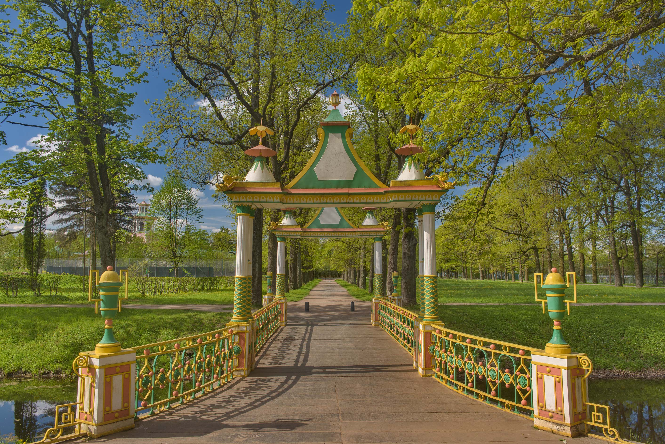 Chineese Bridge in Aleksandrovsky Park. Pushkin...south from St.Petersburg, Russia