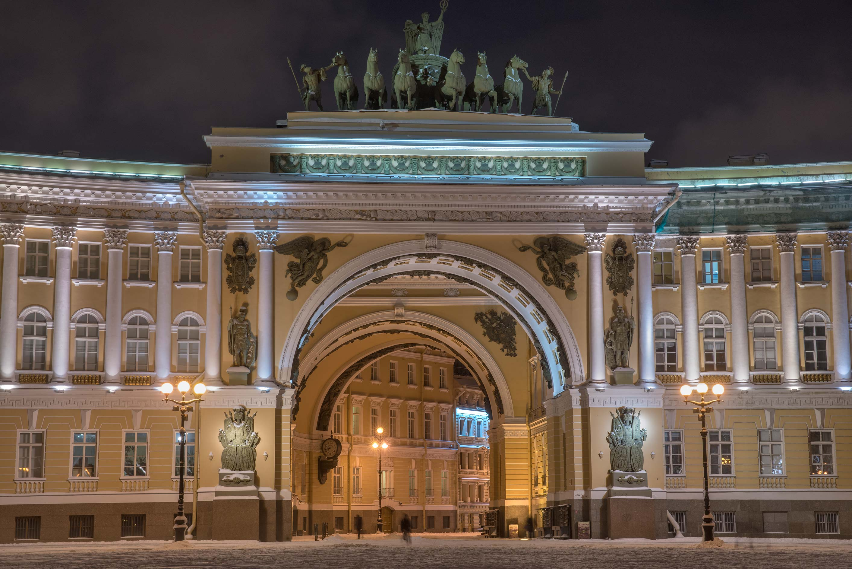 General Staff building from Dvortsovaya Square. St.Petersburg, Russia