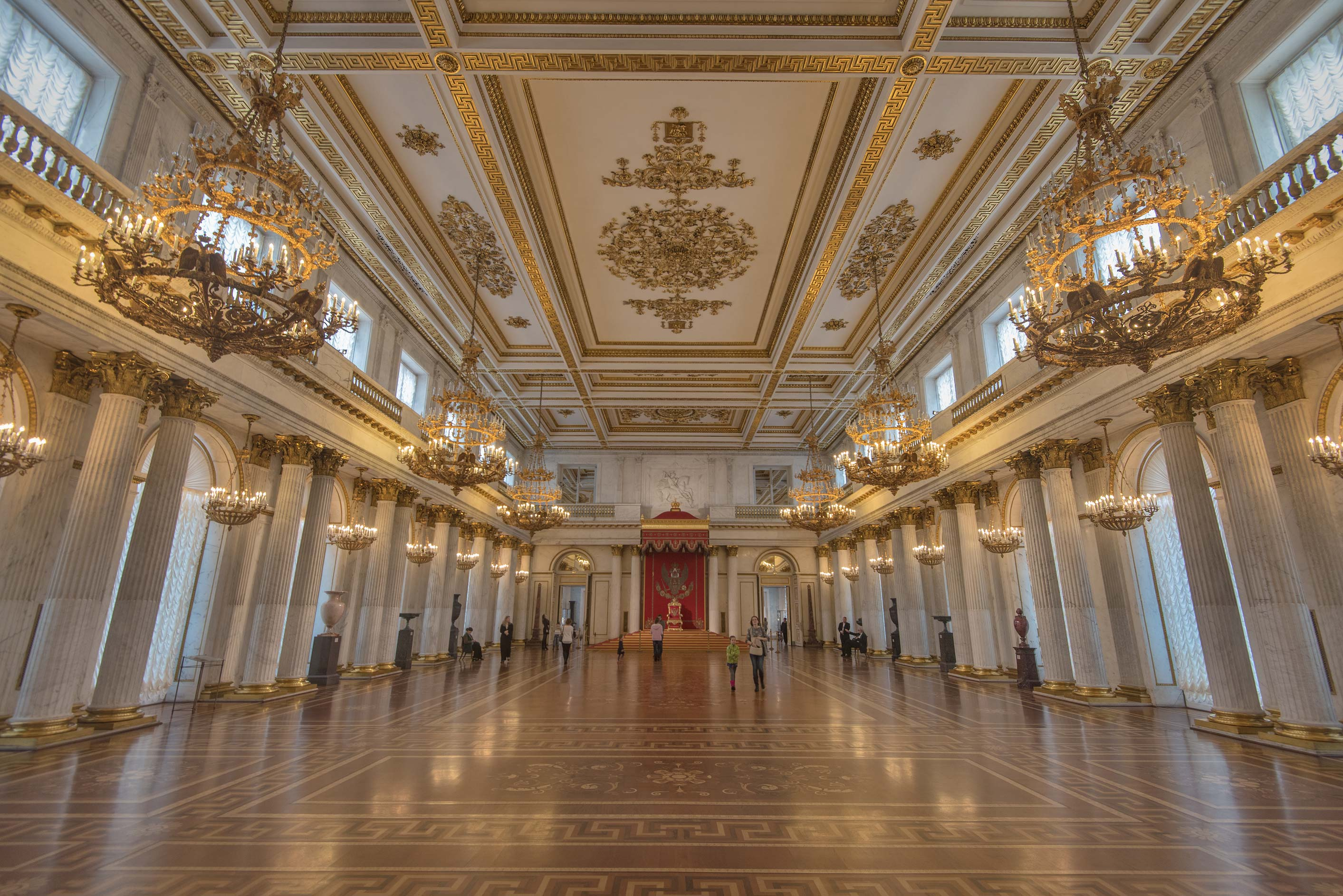 Throne hall in Hermitage Museum. St.Petersburg, Russia