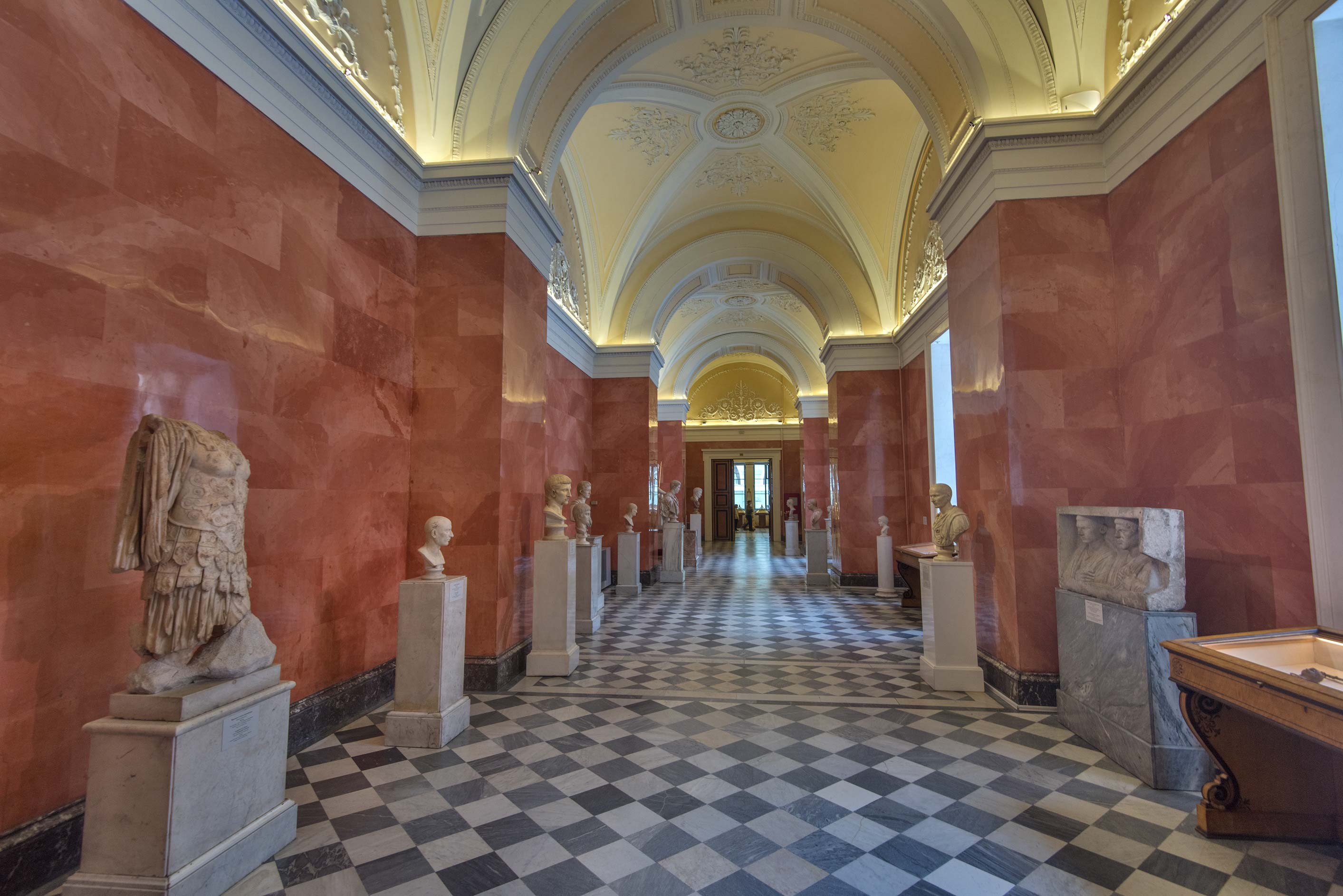Ancient Rome sculptures in Hermitage Museum. St.Petersburg, Russia
