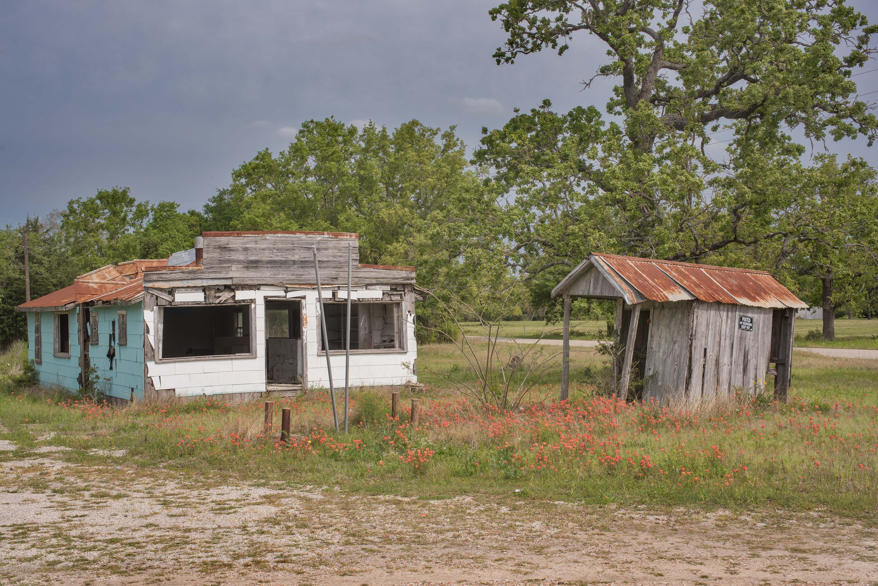 Old gas station at 7510 Harge Rd.. Burton, Texas