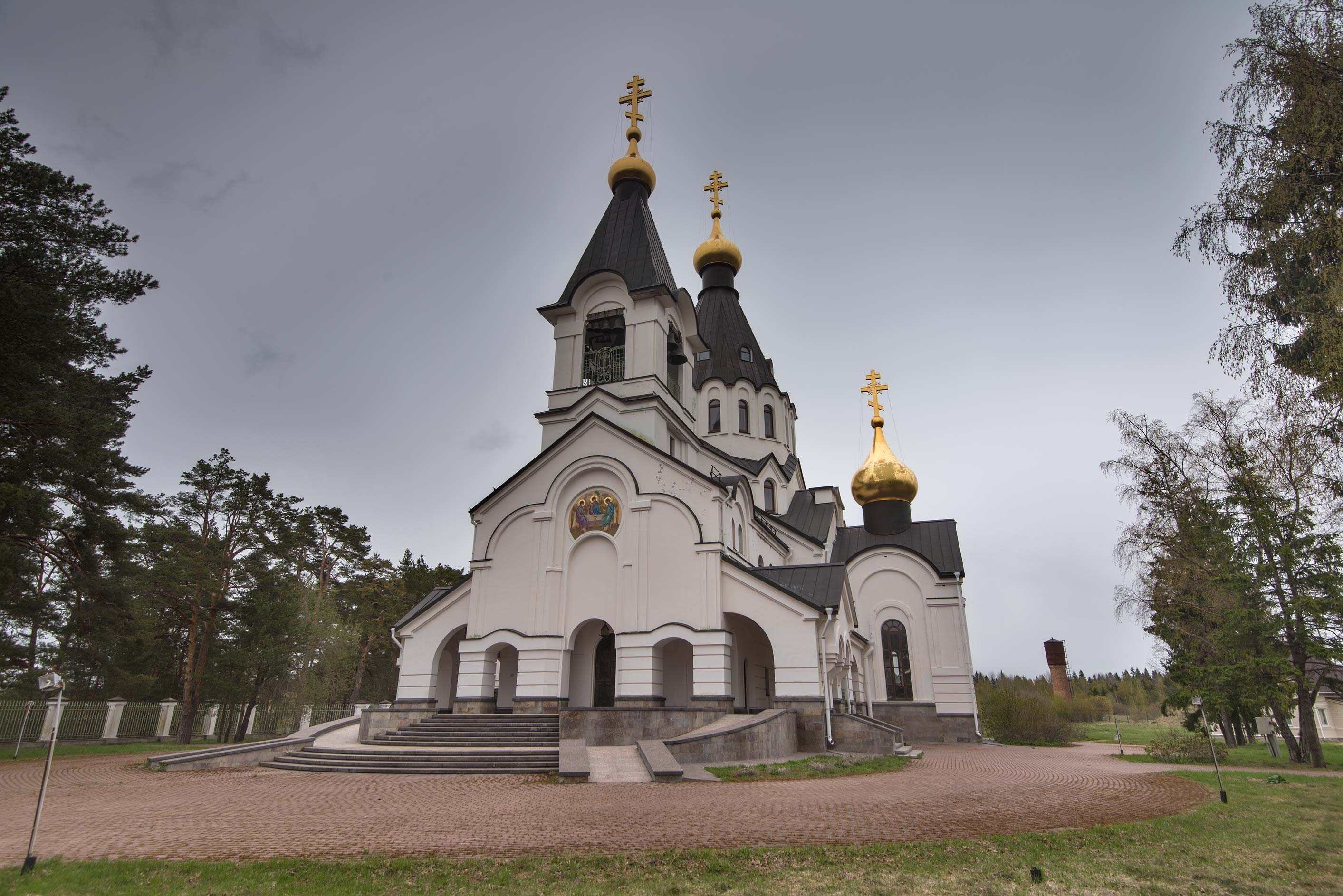 Svyatotroitsky (Holy Trinity) Sea Cathedral on Kurgalsky Peninsula in Ust Luga. Russia