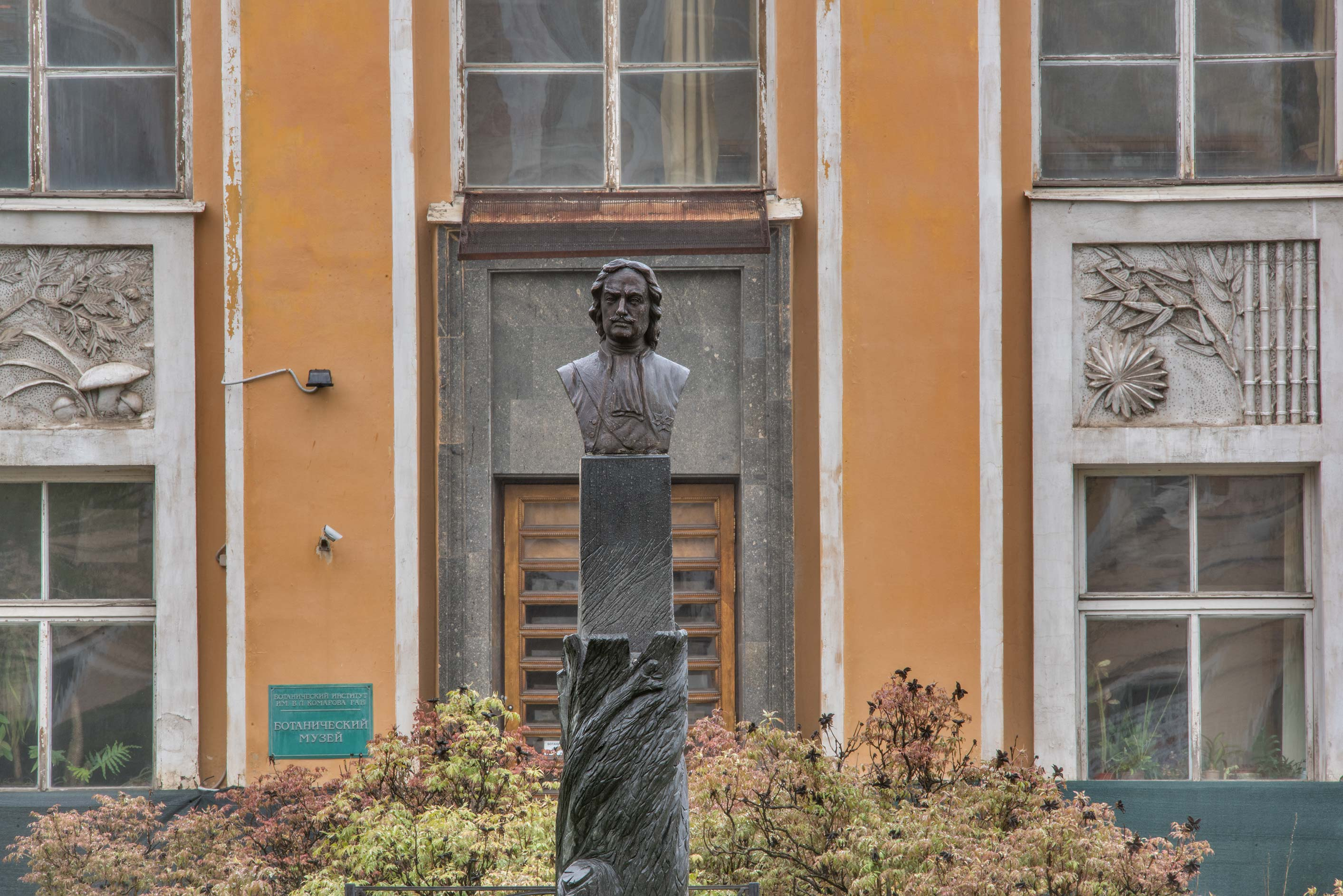 Sculpture of a Russian Tsar Peter the Great at...Institute. St.Petersburg, Russia