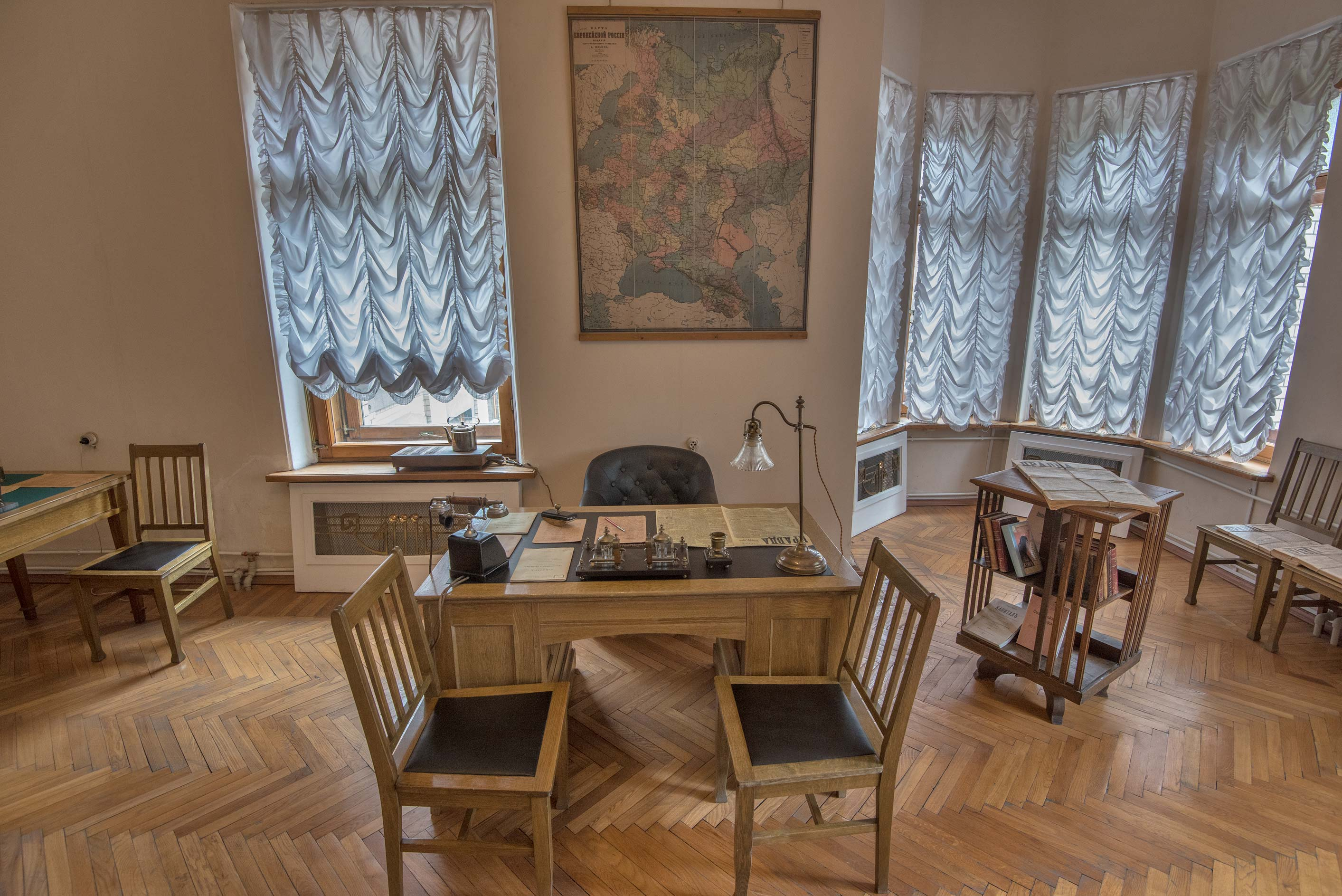Lenin's Cabinet (workroom), reconstruction, in...Mansion). St.Petersburg, Russia