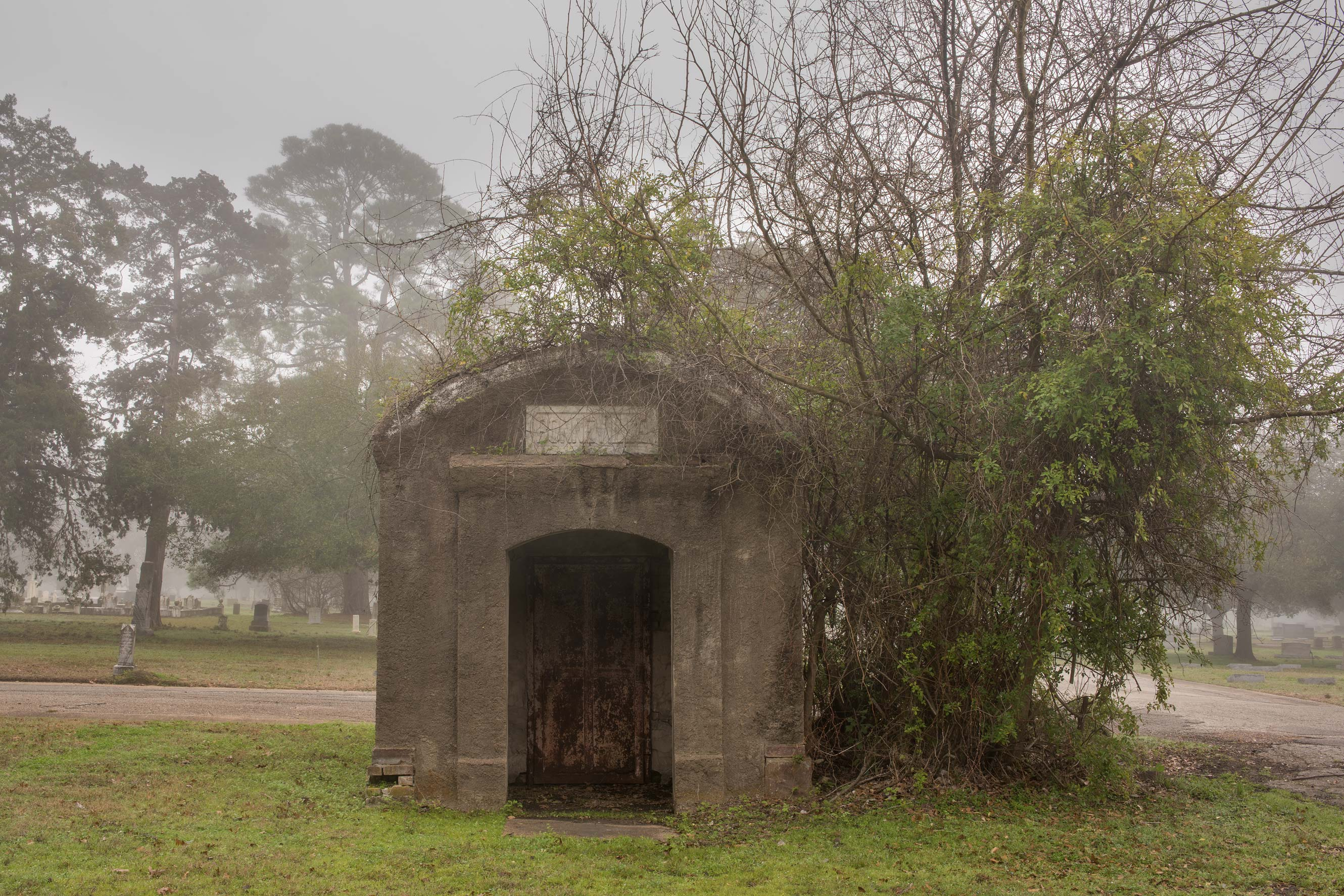 Large crypt in City Cemetery. Bryan, Texas